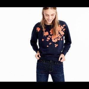 J. Crew embroidered sweatshirt XS